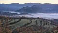 Early morning... (JESS PUIGMART) Tags: huesca osca pirineus pirineos niebla boira fog morning sunrise light arenydenoguera ribagorza ribagora nogueraribagorana fall otoo tardor automne autumn