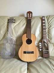 "A ukulele ""trio"" (tawalker) Tags: risa ukulele electricukulele yamaha gl1 guitalele makalawaterman"