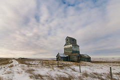 Fusilier (Len Langevin) Tags: ghosttown grainelevator abandoned saskatchewan canada fusilier old forgotten building winter prairie nikon d300s tokina 1116 sky clouds