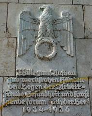 Reichsadler, Maschsee (radio53) Tags: nazis nazi germany hanover olympics 1936 scheuernstuhl swastika reichsadler
