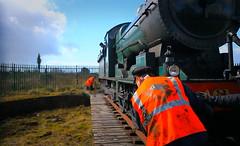 Turning 461, Mullingar, Ireland. (2c..) Tags: digitallywatermarked ireland ©2c © trains people westmeath rpsi ©lowresolutionpreview irishrailways irishtrains perspective westyard 2c train railroad 5dmk2 461 72dpipreview engine europe 2cireland railtour steam