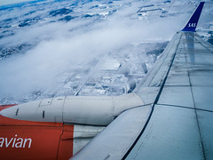 Used (Quasqua) Tags: 2017 arn aircraft aviation b737600 boeing clouds day essa engine hiver sas scandinavian snow suã¨de sweden takeoff wing winglet winter