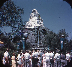 Tomorrowland Reel 3, #1a - Disneyland Matterhorn Attracts All Eyes (Tom Simpson) Tags: viewmaster slide vintage disney disneyland 1960s vintagedisney vintagedisneyland