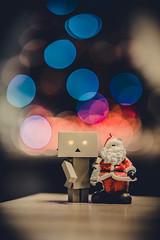 Danbo with Santa (Vagelis Pikoulas) Tags: santa christmas danbo bokeh winter 2016 december canon light 6d tamron 70200mm f28