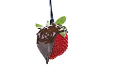 Project 365 - 1/1/2017 - 1/365 (cathy.scola) Tags: project365 odc chocolate onwhite strawberry food red dripping decadent fruit valentine delicious macrodesserts