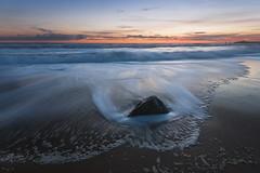 Port Bara (Tony N.) Tags: bretagne morbihan quiberon portbara beach plage rock rocher sand sable sea seascape mer sunset coucherdesoleil vague waves mousse sky ciel orange d300s sigma1020 vanguard tonyn tonynunkovics