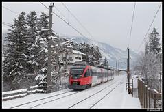 ÖBB 4024 095-4 - 5150 (Spoorpunt.nl) Tags: 7 januari 2017 öbb talent treinstel triebzug 4024 0954 s2 trein zug 5150 station bahnhof pill vomperbach sneeuw winter