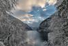 Königssee (lindner.photography) Tags: landscape landschaft königssee winter snow schnee bavaria germany berchtesgadenernationalpark trees bäume see lake clouds wolken