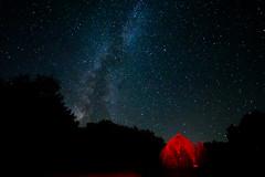 Milky Way Barn (matthewkaz) Tags: barn redbarn stars sky night galaxy milkyway astronomy silhouette trees home ogemawcounty westbranch michigan 2016