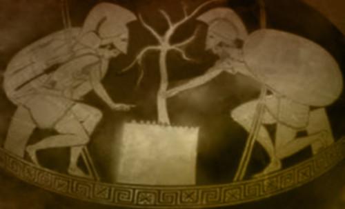 "Petteia - Ludus Latrunculorum  / Iconografía de las civilizaciones helenolatinas • <a style=""font-size:0.8em;"" href=""http://www.flickr.com/photos/30735181@N00/32143100860/"" target=""_blank"">View on Flickr</a>"