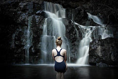 Relax in Front of the Falls (joshuawoodhead) Tags: tasmania nature landscape waterfall long exposure potrait relax water lilydale