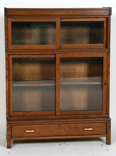 Oak Danner Sliding Door Stack Bookcase ($644.00)