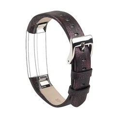 Leather Replacement Strap with Metal Buckle for Fitbit Alta (wearlizerband) Tags: wearlizer leather smart watch replacement strap wristband with metal buckle for fitbit alta vintage purple