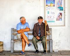 Conversation (Kevin R Thornton) Tags: d90 nikon candid travel street mediterranean greece conversation mykonos mikonos egeo gr