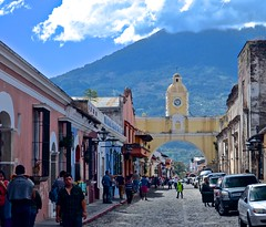 """Overseas Adventure Tours"", ""Route of the Mayas"", Antigua, bride, El Arco, Guatemala, the Arch, volcano, clouds, Calle del Arco (David McSpadden) Tags: overseas adventure tours route mayas antigua bride calledelarco clouds elarco guatemala thearch volcano"