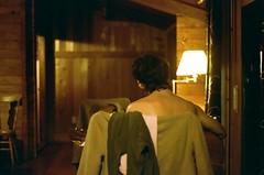 Fireside (Laura-Lynn Petrick) Tags: portrait intimate film 35mm lauralynnpetrick love romance cabin fireside guitar