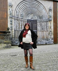 2016-03-20-59 (mathildecross) Tags: crossdress crossdressing crossdresser boots bamberg pantyhose outdoor transvestit cd
