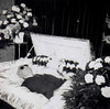 Clarence (Midnight Believer) Tags: death coffin casket funeral wake corpse deceased flowers blind retro 1950s postmortem repose