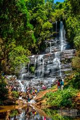 Buttermilk Falls Chikmagalur (Himanshu Joshi Bangalore) Tags: chikmagalur south india bangalore landscape colours raw d610 nikon nikkor 2485 wideangle wide angle green waterfalls water long exposure