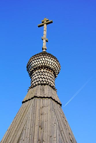 Wooden chapel in Isavitsy, Mozhaysk, Russia