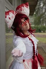 Grell - Guro Lolita (KurenaiSutcliff) Tags: gurololi guro lolita grell sutcliff shinigami red reaper redhead death blood kuroshitsuji black butler