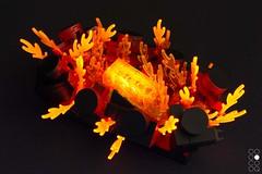 Hot Matrjoshka (Cole Blaq) Tags: coleblaq enterthebrick brick brickart burn burning etb fire flame flames heat lego legoart