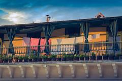 Linge au couchant (Thibaud Vaerman) Tags: sunset summer sun linen balcony croatia split grad washing stari starigrad mditerranne hcar