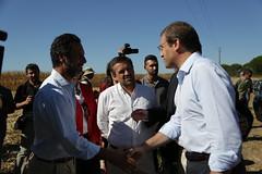 Pedro Passos Coelho e Paulo Portas no distrito de Santarém