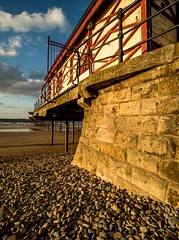 Saltburn Pier (dave hudspeth photography) Tags: sea english water pier sand nikon stones yorkshire north pebbles iconic saltburn engalnd wppd davehudspeth