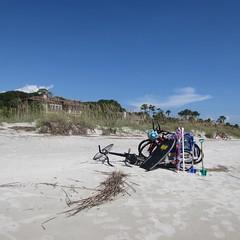 Hilton Head Island Summer 2015 Day Four (evamadera) Tags: beach sand bikes shore boogieboard hiltonheadisland