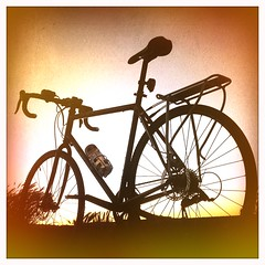 Evening bike ride in Cramond, October (billyrosendale) Tags: sunset bike bicycle cycling coast scotland twilight october edinburgh x biking planet indiansummer firthofforth cramond planetx kaffenback
