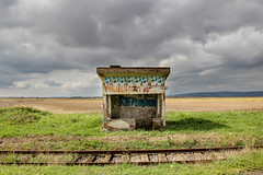 Abandoned railway station, Vojvodina, Serbia (Two people two cameras) Tags: travel abandoned vintage landscape serbia rail railway railwaystation vojvodina vrsac
