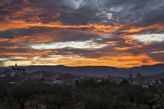 Amanecer en Beniarrés (borjamuro) Tags: red sky españa sun sol beautiful beauty sunrise dawn spain rojo pueblo bonito alicante amanecer cielo beniarres