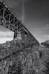 Railroad Bridge at Letchworth State Park (Joe Tecza) Tags: bridge letchworth railroadbridge geneseeriver
