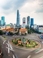 Saigon Motion - Vietnam, HCMC (Nomadic Vision Photography) Tags: longexposure skyline modern cityscape vietnam citylights viewpoint saigon hochiminhcity twighlight jonreid commercialzone tinareid nomadicvisioncom