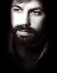 Niccol (Vindeca Raine) Tags: portraits blackwhite faces closeups maleportraits