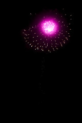 purple Fireworks (tatadbb) Tags: party black color night lights fireworks guatemala explosion firework celebration