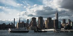 Water Cab (AlexZustra) Tags: nyc newyorkcity ferry skyline midtown eastriver empirestatebuilding rx100