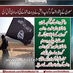 سعودی کے پالتو دہشت گرد گروپ داعش نے بیروت دھماکے کی ذمہ داری قبول کرلی داعش دہشت گرد تنظیم نے ان دھماکوں میں ملوث دہشت گردوں کے نام کا اعلان کرتے ہوئے کہا ہے کہ بیروت بم دھماکوں میں دو فلسطینی دہشت گردوں حامد رشید بالع اور عمار سالم الریس اور ایک شامی دہ (ShiiteMedia) Tags: pakistan دو shiite بم حامد احمد خالد ان سالم نام عمار بیروت اعلان قبول کا سعودی گرد الخالد کے اور داری ملوث ہے کی shianews نے میں تنظیم رشید کہ ۔ ایک فلسطینی لیا کرتے پالتو shiagenocide shiakilling کہا داعش گروپ شامی shiitemedia shiapakistan mediashiitenews ہوئے دہشت ذمہ کرلی دھماکوں گردوں بالع الریس حصہ لعنتبرداعشshia دھماکے