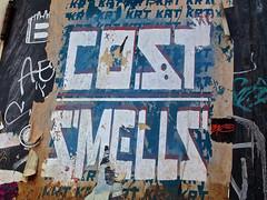 Cost, New York, NY (Robby Virus) Tags: street nyc newyorkcity ny newyork adam art wall graffiti flyer cole manhattan wheatpaste paste cost bigapple smells