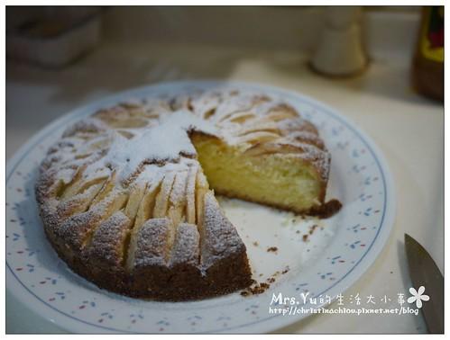 蘋果片鑲蛋糕
