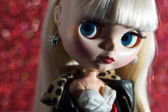 Darcy (Eloines) Tags: red portrait macro celebrity glitter nikon doll dolls factory profile picture fake sigma page bjd blythe bling tbl takara darcy facebook 105mm d3200