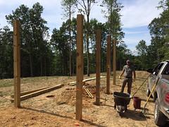 Matt decides to build a firewood shed- no more tarps!