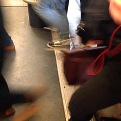 Hurry up! (Héloïse Barreau) Tags: paris speed train underground subway square metro squareformat streetphoto metropolitain ligne2 vitesse iphone parisphoto parislife iphoneography instagramapp