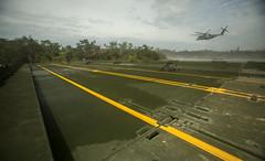Bridge Building (larson.thor) Tags: bridge usmc aircraft military helicopter marinecorps irb ch53superstallion improvedribbonbridge