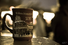hot Glühwein to warm the heart (Άννα.) Tags: christmas macro berlin germany glasses nikon wine market bokeh weihnachtsmarkt glühwein 40mm nikkor charlottenburg wein 2015 d5000 macrophorography