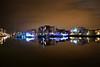 harbour lights_-4 (o Nightfox o) Tags: portishead harbour boats reflections water night nikon