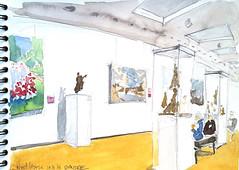Niort, Musée Bernard d'Agesci, salle PM Poisson - sculpteur, peinture XIX-XX (Croctoo) Tags: niort musée agesci croctoo croquis croctoofr crayon aquarelle watercolor