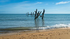 Mexican wave.. (AJFpicturestore) Tags: mexicanwave sea sand shore oldjetty norfolk happisburgh alanfoster