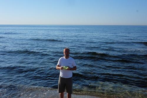Tag 4 - Frühstück am Meer vor Barcelona